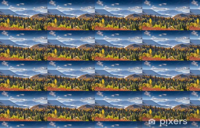 Tapeta na wymiar winylowa Kolorowa jesień krajobraz w górach - Pory roku