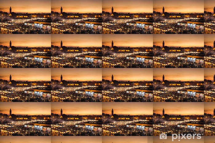 Vinylová tapeta na míru Marrakech, Djemaa el Fna, Maroko - Afrika