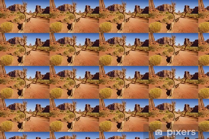 Papier peint vinyle sur mesure Vieil arbre dans le désert - Amérique