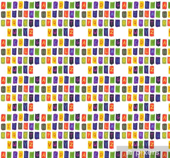 Papier peint vinyle sur mesure L'alphabet écrit avec colorés au feutre stylos à encre de marqueur. - Thèmes