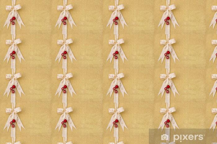Papier peint vinyle sur mesure Fond d'or pour Noël - Fêtes internationales