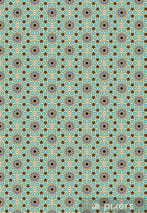 Papier peint vinyle sur mesure Nurabad Seamless Pattern Cinq - Moyen Orient