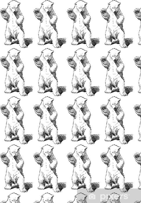 Vinylová tapeta na míru Medvěd stojící na zadních nohou - Savci