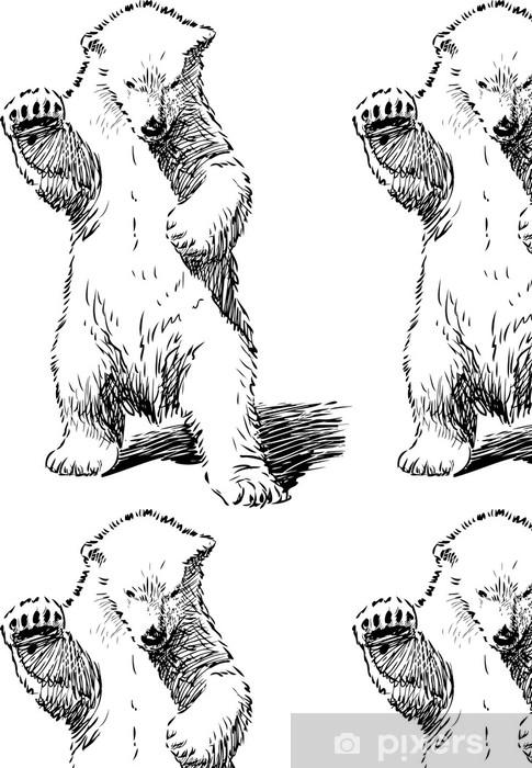 Vinylová Tapeta Medvěd stojící na zadních nohou - Savci