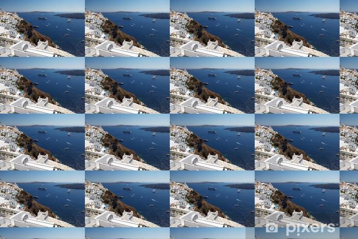 Papier peint vinyle sur mesure Santorini romantique. Grèce. - Europe