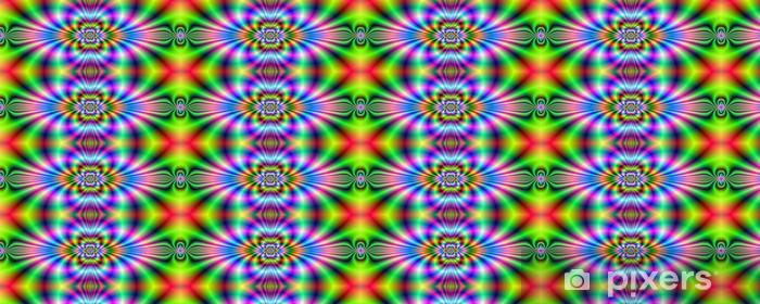 Psychedelic Neon Banner Vinyl custom-made wallpaper - Abstract