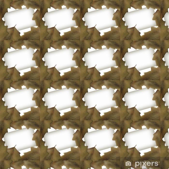 Vector illustration of autumn season leaves frame Vinyl custom-made wallpaper - Seasons