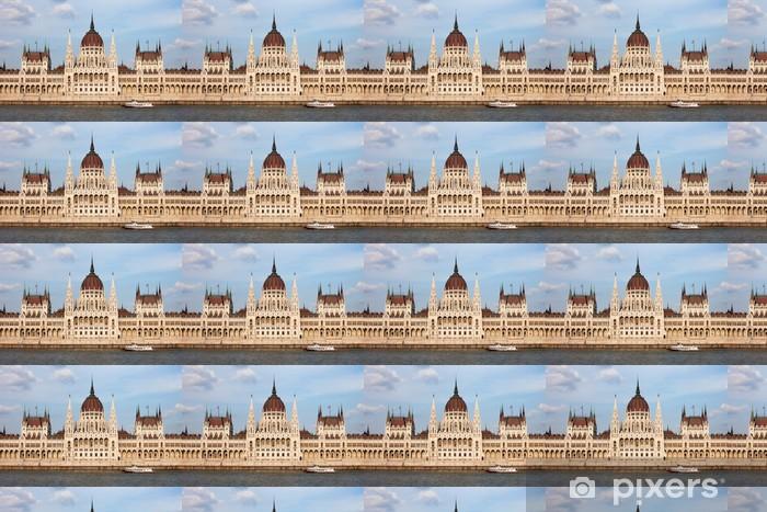 Papier peint vinyle sur mesure Bâtiment du Parlement hongrois à Budapest - Autres