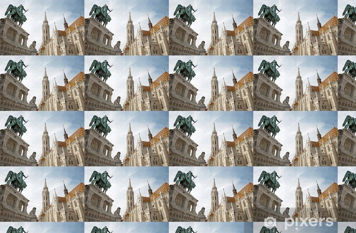 Tapeta na wymiar winylowa Budapeszt - gotycka katedra św Mateusza - Europa