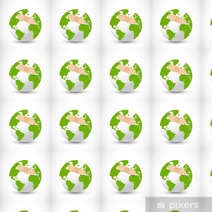 Papier peint vinyle sur mesure Vecteur de l'aide de terre - Ecologie