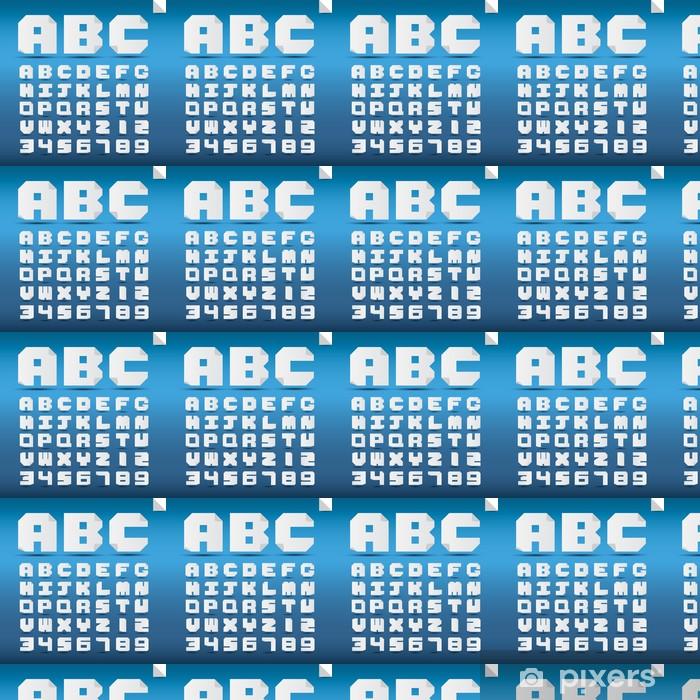 Vinylová tapeta na míru Origami abecedy a čísla. - Témata