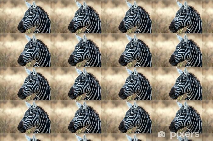 Papier peint vinyle sur mesure Zebra dans le Parc national du Serengeti, en Tanzanie - Thèmes