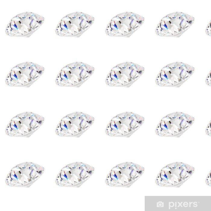diamond jewel isolated on white background Vinyl custom-made wallpaper - Fashion