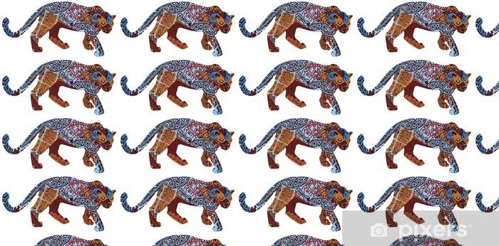 Tapeta na wymiar winylowa Jaguar w strukturze etnicznej Indian - Ameryka