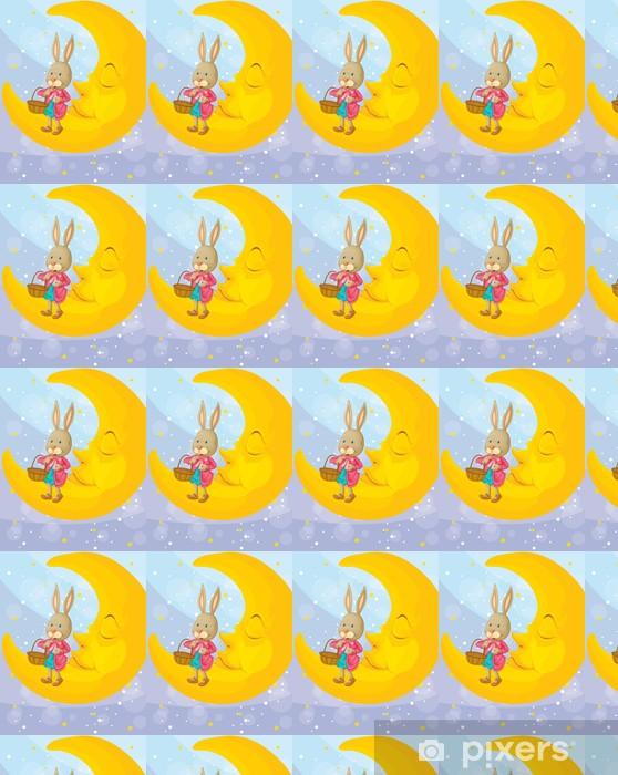 Vinyltapete nach Maß Ein Kaninchen und ein Mond - Säugetiere