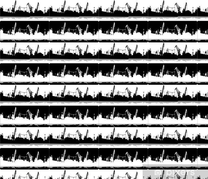 Vinyltapete nach Maß Silhouetten der Gebäude beherbergen - Schwerindustrie