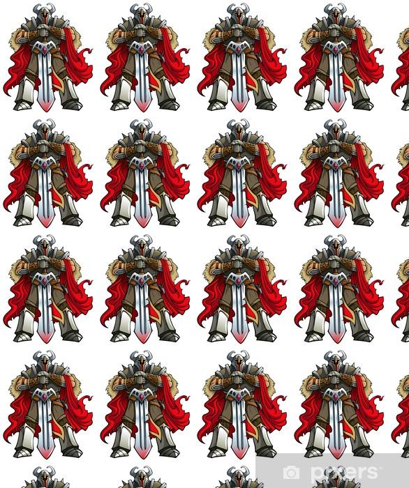 Papier peint vinyle sur mesure Crusader chevalier avec épée énorme, vecteur - Au travail