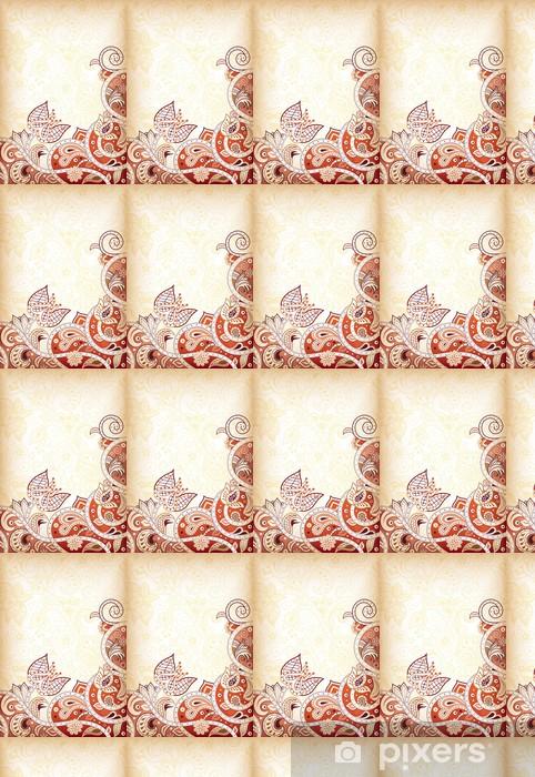 Vinyltapete nach Maß Zusammenfassung Swirly Floral - Hintergründe