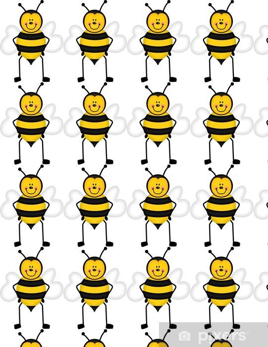 Cute Honey Bee Wallpaper Vinyl Custom Made