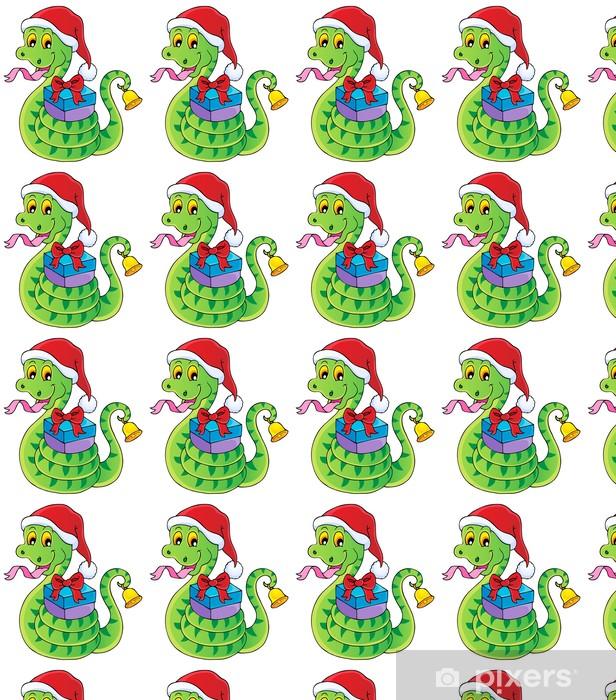 Vinylová tapeta na míru Vánoční Snake téma image 1 - Mezinárodní svátky