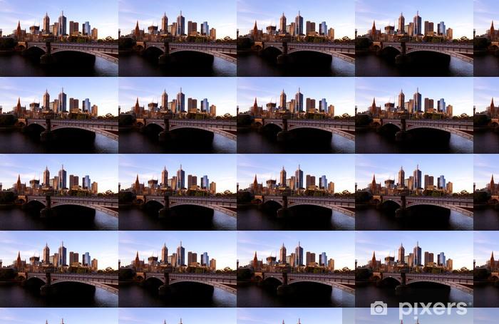 Vinylová tapeta na míru Melbourne Skyline na západ slunce - Témata