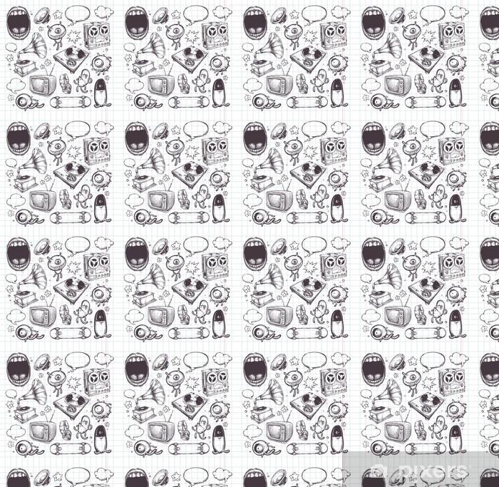 Set of hand drawn elements Vinyl custom-made wallpaper - Abstract