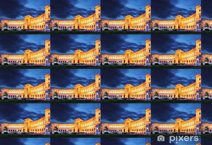 Papier peint vinyle sur mesure Vienne palais impérial de Hofburg, la nuit, - Autriche - Bâtiments commerciaux et industriels
