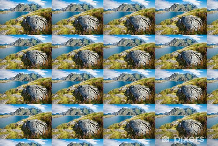 Papier peint vinyle sur mesure Vue sur les montagnes en Norvège, les îles Lofoten, Siurana - Europe