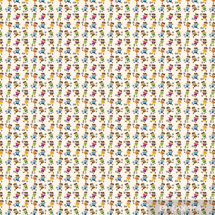 seamless soccer player pattern Vinyl custom-made wallpaper - Backgrounds