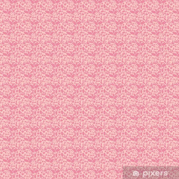 Vector pink silhouette flowers elegant seamless pattern Vinyl custom-made wallpaper - Plants and Flowers