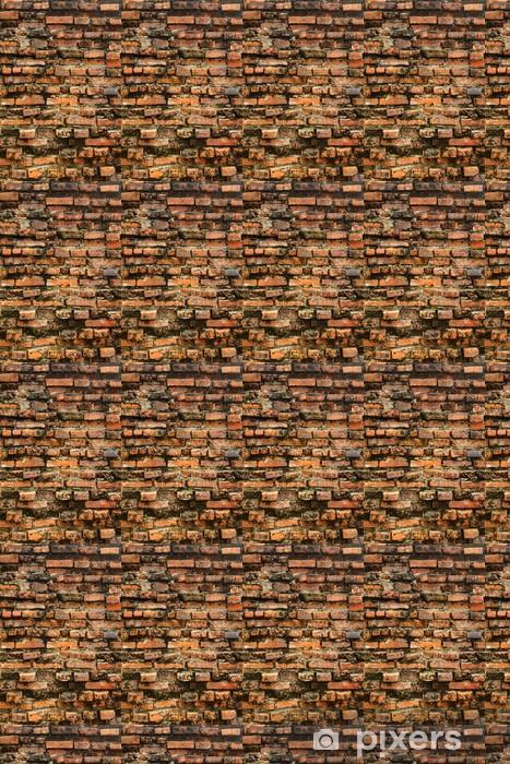 Papier peint vinyle sur mesure Vieux mur de briques orange grungy - Arrière plans