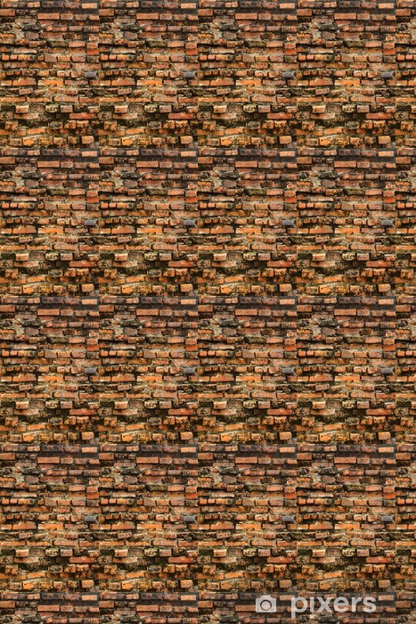 Old grungy orange brick wall Vinyl custom-made wallpaper - Backgrounds