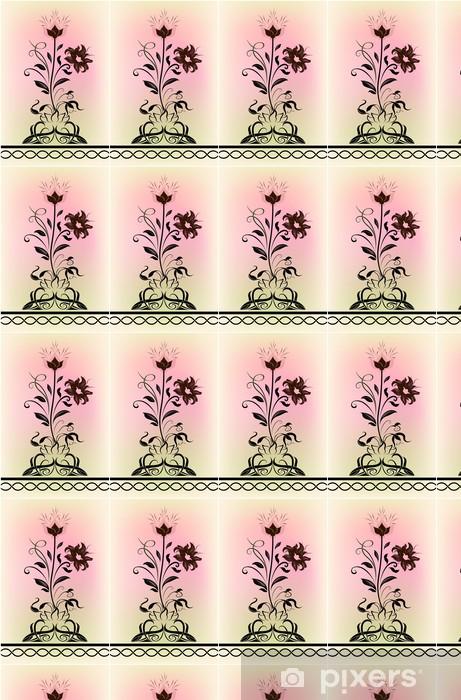 Vinyltapete nach Maß Abstrakt blühende Blumenform - Jahreszeiten