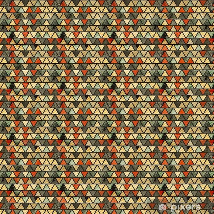 Papier peint vinyle sur mesure Grunge triangle seamless pattern - Signes et symboles