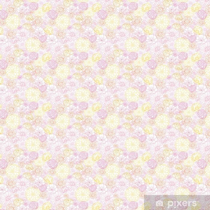 Tapeta na wymiar winylowa Ślub kwiaty wektorowe bukiet elegancki seamless pattern - Kwiaty