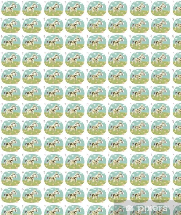 Papier peint vinyle sur mesure Zebra Puzzle ... correspondre à la paire ... Réponse: n ° 1 et 4 - Mammifères