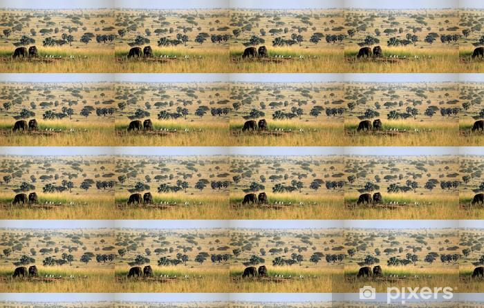 Papier peint vinyle sur mesure Murchison Falls Buffalo - Ouganda - Afrique