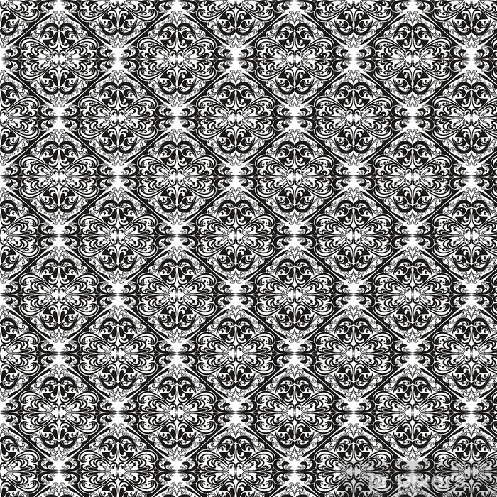 Vinyltapete nach Maß Nahtlose Muster auf einem weißen Hintergrund. - Hintergründe