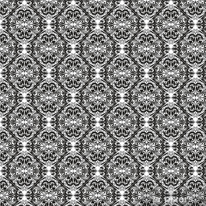 Seamless pattern on a white background. Vinyl custom-made wallpaper - Backgrounds