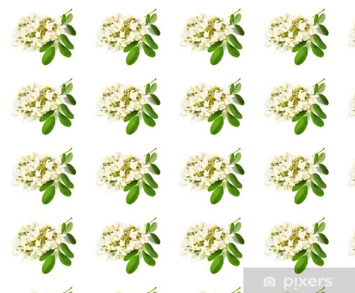 Tapeta na wymiar winylowa Akacja kwiaty z listkami - Zdrowie i medycyna
