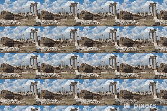 Temple of Trajan at Acropolis of Pergamon Vinyl custom-made wallpaper - Europe