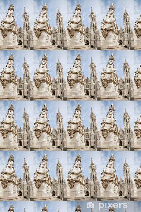 Tapeta na wymiar winylowa Budapeszt - gotycka katedra św Mateusza i kolumna Trójcy - Europa