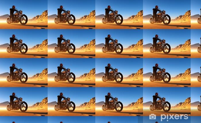 Tapeta na wymiar winylowa Motocyklista - Transport drogowy