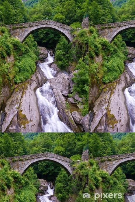 Vinylová Tapeta Kamenný most, Pontboset Valle d'Aosta - Evropa