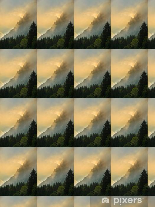 Papier peint vinyle sur mesure Sunrise over Les Deux Alpes - Europe