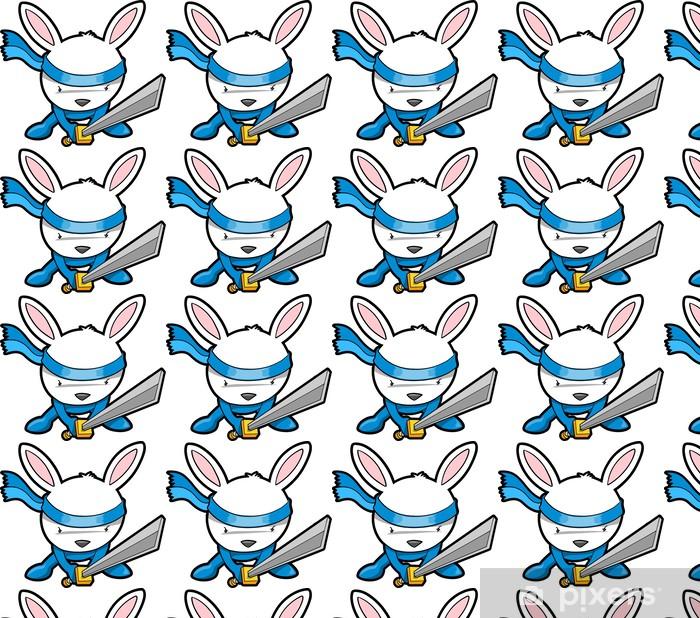 Tapeta na wymiar winylowa Cute Bunny Rabbit Ninja Vector - Ssaki