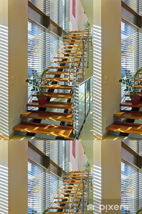 Tapete Modernes Treppenhaus In Architektenhaus Lichtdurchflutet