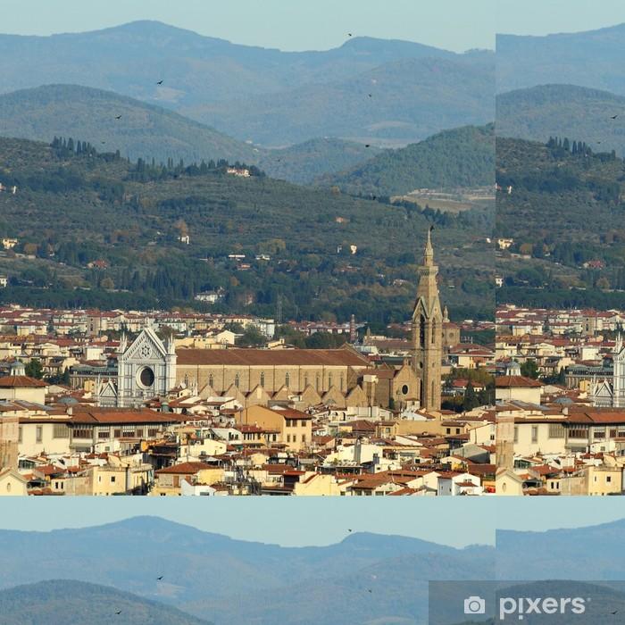 Vinylová Tapeta Fantastický pohled na Florencii Santa Croce kostela - Evropa