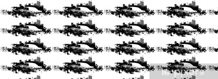 Vinylová tapeta na míru Cityscape ilustrace auto - Na cestě