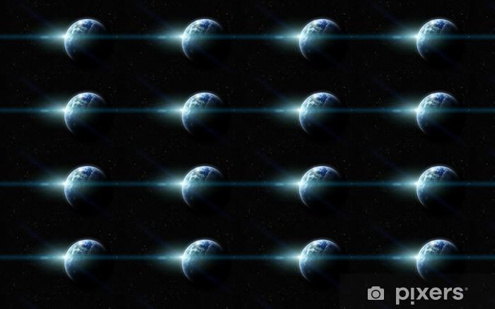 Tapeta na wymiar winylowa Realistyczne planet earth w przestrzeni - Tła
